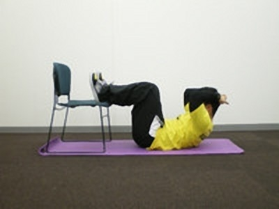 腰痛用腹筋1